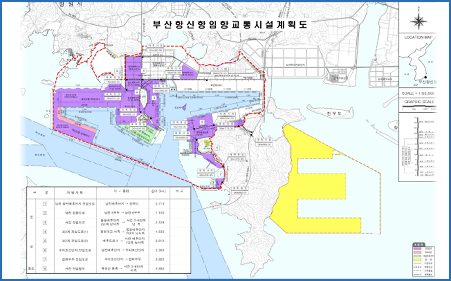 Areas available to move in(Namsan,Sewage Treatment Plant,Ungdong Hinterland 3.58 million ㎡,Western Container Terminal Hinterland,General Pier ,Angol Intersection,Port Hinterland,Yongwon-dong,Northern Container Terminal Hinterland 3.58 million ㎡,Songdo Island,Todo Island)-Note the main content.